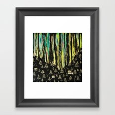 habits and habitats Framed Art Print
