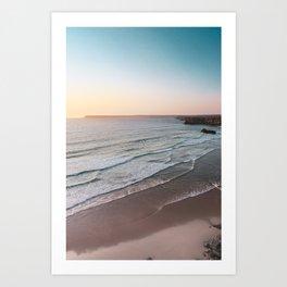 Sunset Beach Print, Sagres Portugal, Printable Photography, Landscape Poster, Waves, Sea Poster Art Print