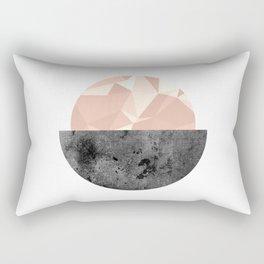 Minimalist Circle  Rectangular Pillow