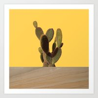 cacti Art Prints featuring CACTI by MODERN UNDERGROUND