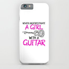 a girl with a guitar iPhone Case