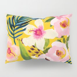 No Winter Lasts Forever; No Spring Skips It's Turn #painting #botanical Pillow Sham