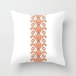 Autumn Leaves and Fruits Illustration Throw Pillow