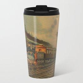 Night Scene on the NY Central Railroad (1884) Travel Mug