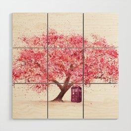 Tardis Tree Art Blossom Wood Wall Art