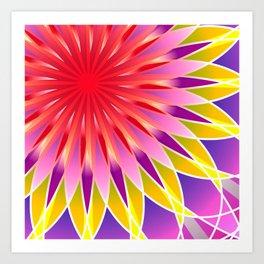 Harmony mandala Art Print