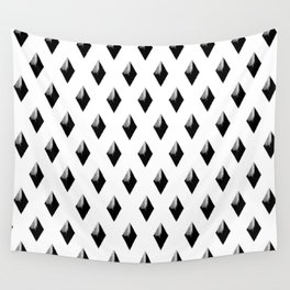 Black Studs on White Wall Tapestry