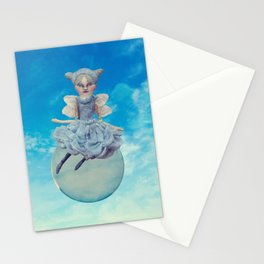Fairy floating on a Bubble Stationery Cards