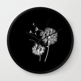 Mom Dandelion Gift Mom Baby Expectant Mother Wall Clock