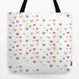 Cat Family for J&K #5 (Slanted Cats) Tote Bag