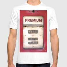 Old Premiums Mens Fitted Tee MEDIUM White