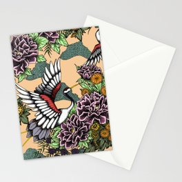 Cranes (Pink) Stationery Cards