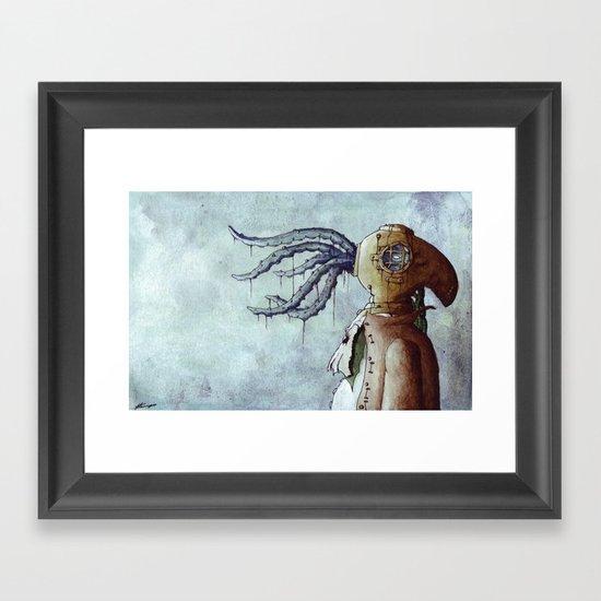 The Octopus Man Framed Art Print