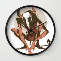 musa Wall Clocks featuring lurk by musa