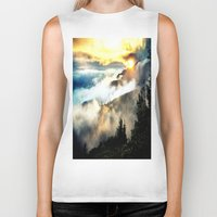 mountains Biker Tanks featuring Sunrise mountains by 2sweet4words Designs