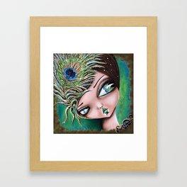 Peacock Princess Framed Art Print