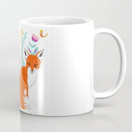 Folk Art Fox Coffee Mug