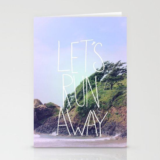 Let's Run Away: Cannon Beach, Oregon Stationery Cards