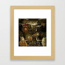 Wonderful noble steampunk design Framed Art Print