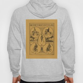 The five stages of cycling (bicycle history) Hoody