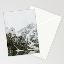 Lago di Braies, Dolomites | Colourful Travel Photography | Dolomiti, Italy (Europe) Stationery Cards