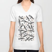 penguins V-neck T-shirts featuring Penguins! by Jazzlikestodraw