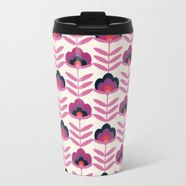 BAM - retro 70s style floral pattern 1970s inspired vintage art decor flowers Travel Mug