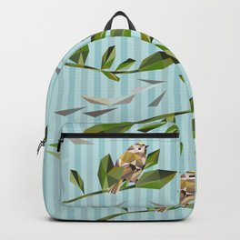 Cute Geometric Goldcrests Pattern Backpack