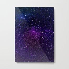 Galaxy, Space, Stars, Blue, Pink, Abstract, Nature, Art, Modern, Wall art Print Metal Print