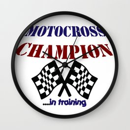 Motocross Champ in Training Wall Clock