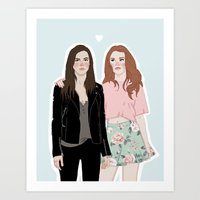 lydia martin Art Prints featuring Cora Hale/Lydia Martin by vulcains