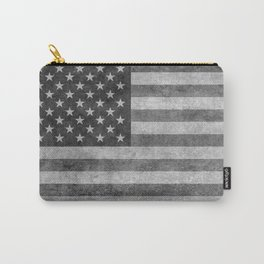US flag - retro style in grayscale Carry-All Pouch