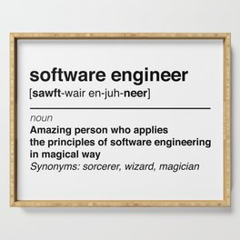 Software Engineer definition Serving Tray