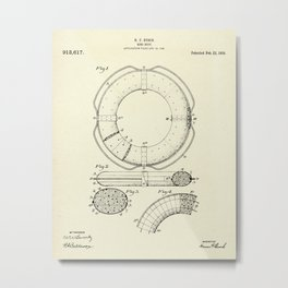 Ring Buoy-1909 Metal Print