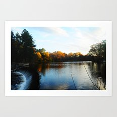 The South Natick Falls Art Print