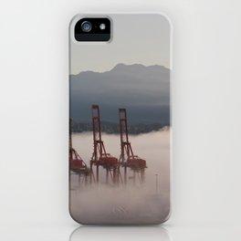 Burrard Inlet Fog iPhone Case