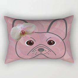Frenchie Girl Rectangular Pillow