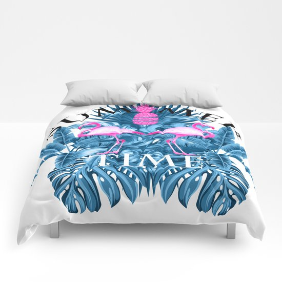 summer time tropical  Comforters
