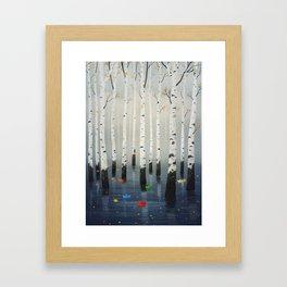 Boats in Trees Framed Art Print