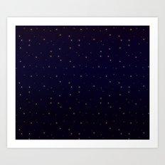 Midnight Stardust Art Print