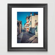 walking through Grado Framed Art Print