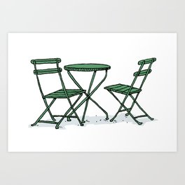 Chairs in Bryant Park Art Print