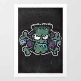 TURN THE CRANK, IT'S TIME FOR FRANK! Art Print