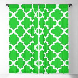 Arabesque Architecture Pattern In Summer Green Blackout Curtain