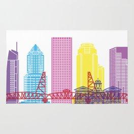 Portland V2 skyline pop Rug