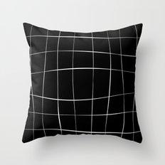 WO black Throw Pillow