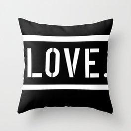 Love Stencil Throw Pillow