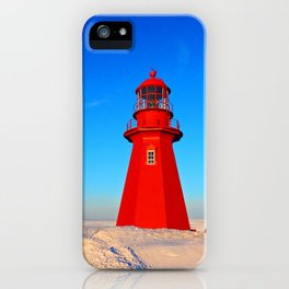 Lighthouse  and Frozen Sea iPhone Case