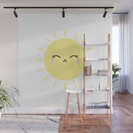 Sun Cute Eyes Wall Mural