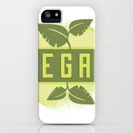 Vegan Badge iPhone Case